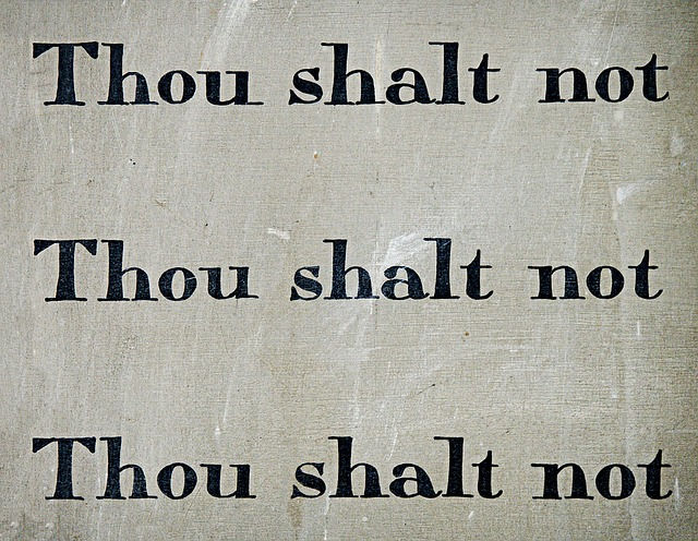 Commandment Thou Shalt Not Law